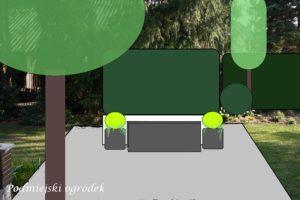 projektowany widok przed tarasem